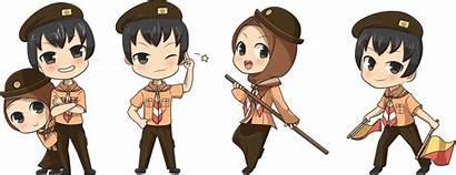Pramuka Kartun Scout Chibi Indonesia Deviantart