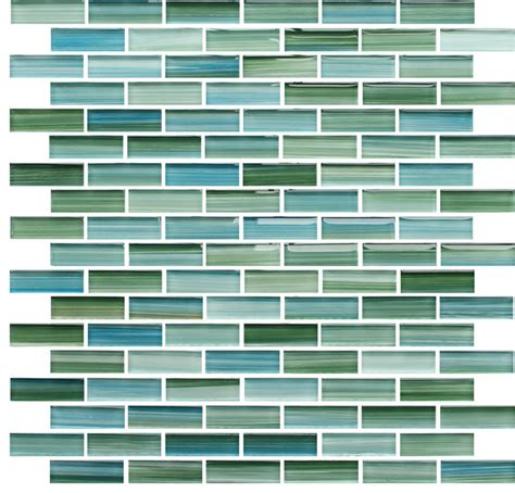 rip curl green and blue painted glass mosaic subway