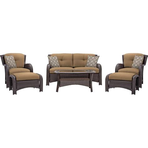 hanover strathmere 6 all weather wicker patio