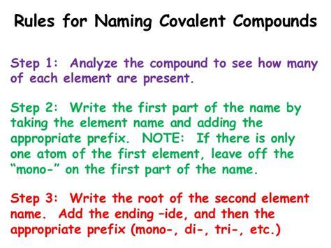 Covalent Nomenclature