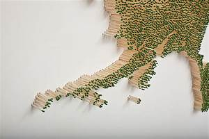 usa map made out of 50000 matchsticks neatorama With united states map made from thousands of wood matches by claire fontaine