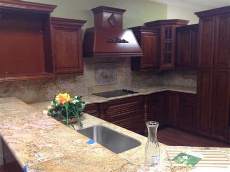 gallery kitchen cabinets  granite countertops