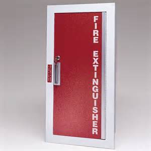 larsen gemini series recessed fire extinguisher cabinet