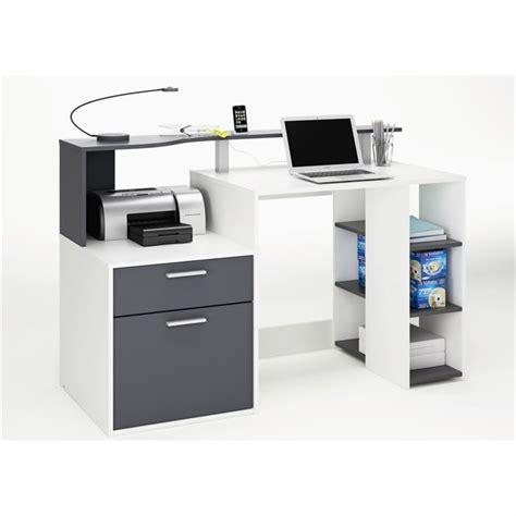 images bureau oracle bureau 140 cm blanc gris achat vente bureau