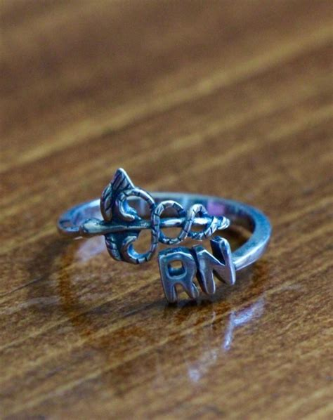 Rn Caduceus Ring Registered Nurse Gift  Kandsimpressions. Turquoise Stone Wedding Rings. Second Engagement Rings. Bearer Wedding Rings. Hippy Wedding Rings. Spinning Rings. Large Amethyst Engagement Rings. Diamond Solitaire Engagement Rings. Pale Blue Rings