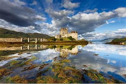Scotland Castle Landscape Donan Eilean Bridge Nature