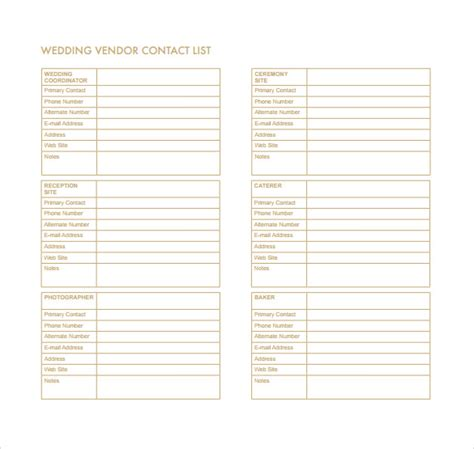 phone list template sle contact list template 12 free documents