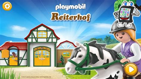 Playmobil Reiterhof App Deutsch  Reitstrecken Labyrinth