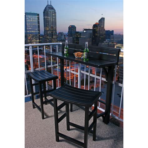 Small Balcony Furniture Sets by Miyu Furniture Balcony Bar Height Bistro Set Outdoor