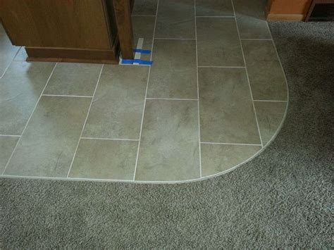 transition from carpet to tile tile