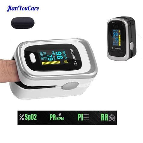 Finger Pulse Fingertip Oled Oximeter SPO2 PR PI RR Blood