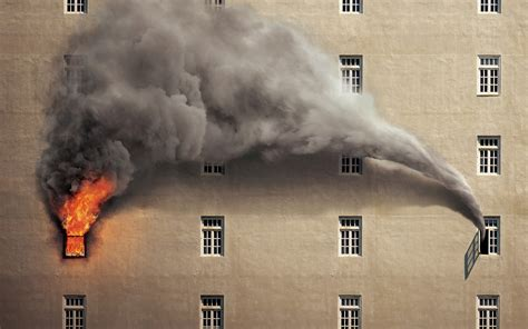 burning, Fire, Smoke, Building Wallpapers HD / Desktop and ...