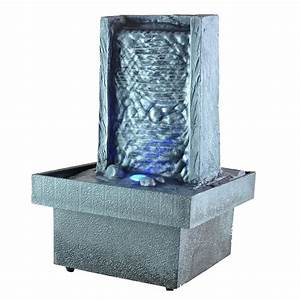 fontaine d39interieur zen a led eclairage d39ambiance ac With fontaine decorative d interieur