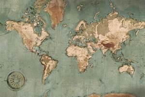 Carte Du Monde Design : poster mappemonde vintage carte du monde g ante ~ Teatrodelosmanantiales.com Idées de Décoration