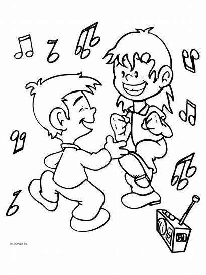 Coloring Dance Pages Sheets Printable Dancing