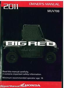 2011 Honda Muv 700 Big Red Owners Manual