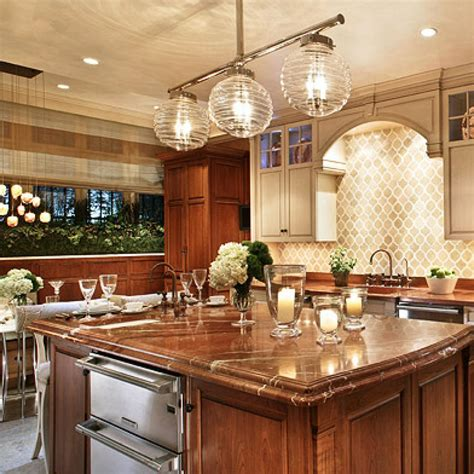 stylish islands  traditional kitchens traditional home