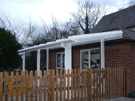 2m powder coated aluminium free standing canopy lean to