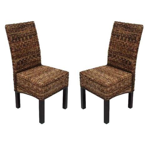 chaise de salle a manger en rotin lot de 2 chaises salle a manger en rotin achat vente