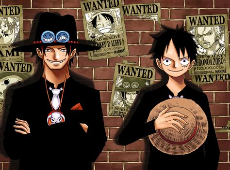 One Piece Luffy And Ace Wallpaper Wide