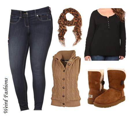 Weird Fashions Requested Plus size winter outfit Uggs long...