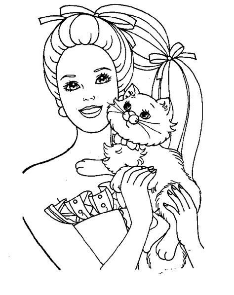 barbie coloring book pages   clip art  clip art  clipart library