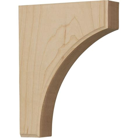 Walnut Corbels by Ekena Millwork 1 3 4 In X 6 In X 8 In Unfinished Wood