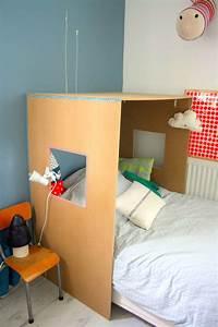 Tete De Lit Cabane : diy lit cabane diy meubles lit cabane chambre enfant et lit enfant cabane ~ Melissatoandfro.com Idées de Décoration