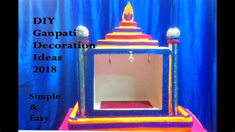 diy ganpati decoration ideas ganesh mandapganesh