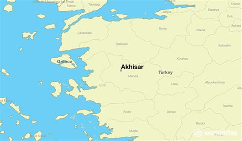 akhisar map turkey manisa where worldatlas