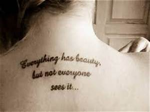 Good Inner Beauty Quotes for Tattoo ~ Word And Phrase Tattoos