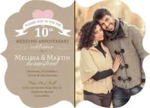 10th wedding anniversary ideas pink 10th wedding anniversary invitation 10th anniversary invitations