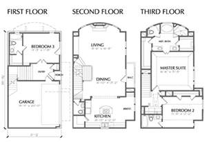 multi level house floor plans 3 multi unit townhouse floor plan