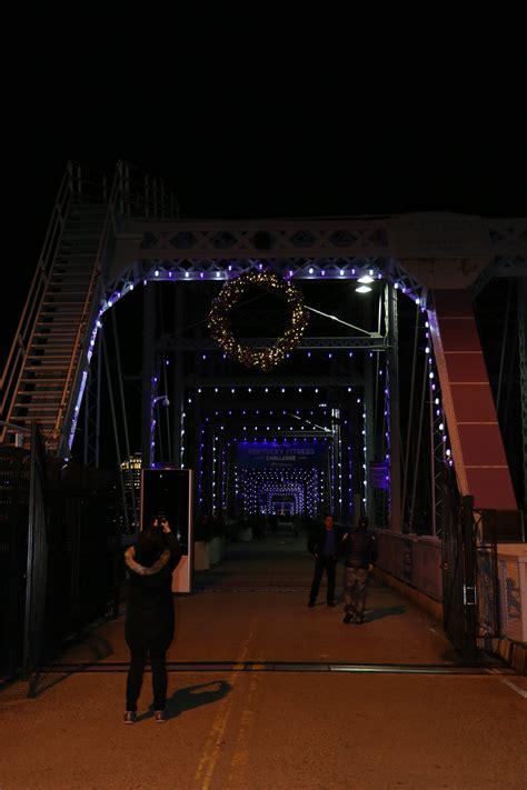 light   night   purple people bridge
