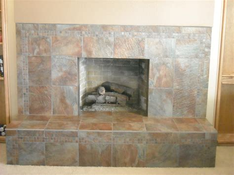 Slate Tile For A Fireplace Video And Photos