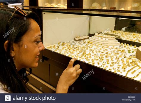 shopping for jewellery jewelery in a shop the gold
