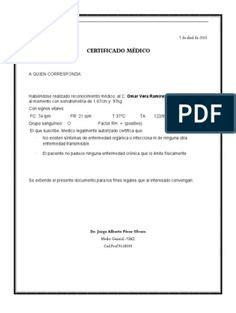certificado de buena salud recetas certificado medico certificado medico cirujano