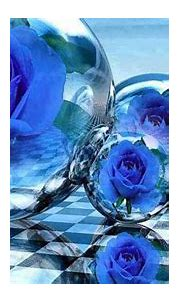 Blue Bubbles Flowers HD Abstract Wallpapers | HD ...