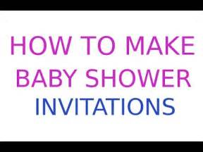 ideas for a boy baby shower how to make baby shower invitations for free