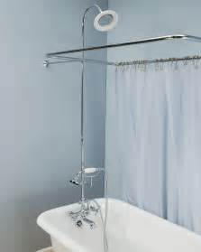 Shower Enclosure Set w/British Telephone Faucet and Brass/Porcelain Shower Head