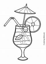 Summer Coloring Pages Printable Food Cocktail Colouring Drawing Drinks Sheets Cocktails Adult 4kids Season Seasons Printables Getdrawings Easy Drawings Clip sketch template