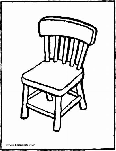 Chair Clipart Colouring Furniture Kiddicolour Colour Drawing