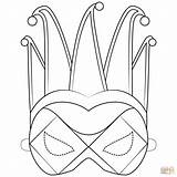 Coloring Mask Harlequin Pages Printable Mardi Gras Masks Masquerade Drawing Paper Supercoloring Templates Styles Categories sketch template
