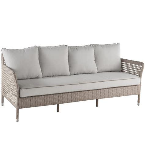 canapé en résine tressée canapé de salon de jardin en résine tressée brin d 39 ouest
