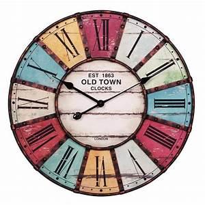Römische Zahlen Uhr : neu uhr r mische zahlen 60cm metall holz wanduhr wohnzimmeruhr k chenuhr wanduhr ebay ~ Orissabook.com Haus und Dekorationen