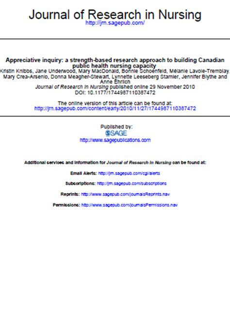 appreciative inquiry  strength based research approach