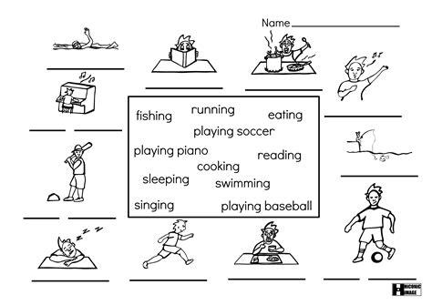 14 Best Images Of Esl Sports Worksheets
