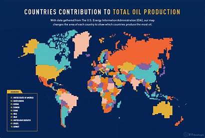 Oil Production Fossil Country Countries Fuel Map