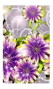 Free download Purple Flower 3d Design Hd Wallpaper ...