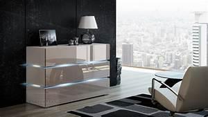 Kommode Weiß Hochglanz 120 Cm : kaufexpert kommode shine sideboard 120 cm cappuccino hochglanz wei led beleuchtung modern ~ Bigdaddyawards.com Haus und Dekorationen